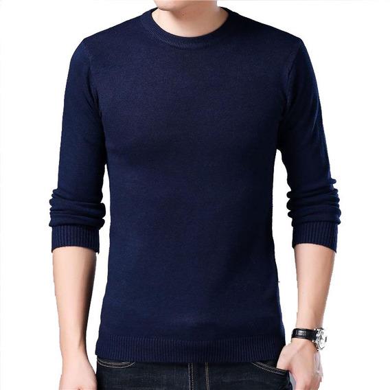 Casaco Suéter Blusão Masculino Básico Dec Redondo Promocão