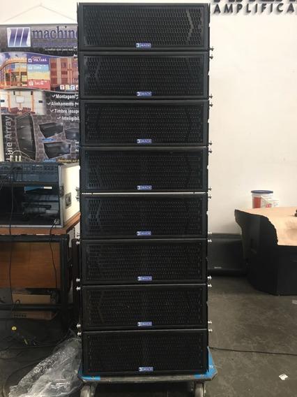 Caixa Line Array Evolution 208 Machine Amplificadores