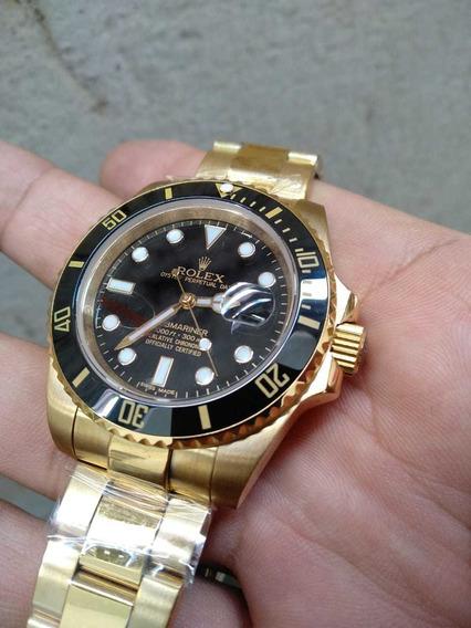 Relógio Automático Submariner Gold Preto!