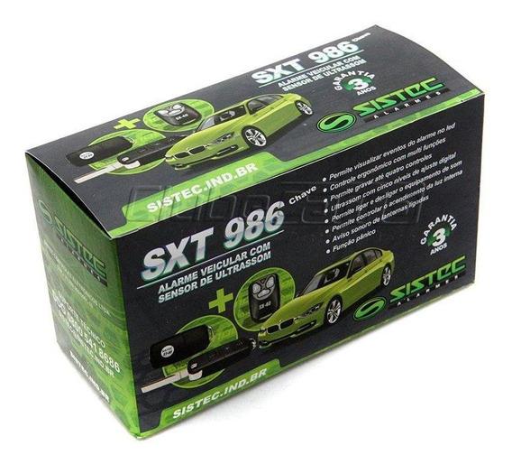 Alarme Automotivo Universal Com Controle Remoto E 1 Chave Canivete Led Vermelho Sxt986 Sistec