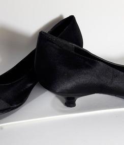 Sapato Preto Cetim (marca Antonella)