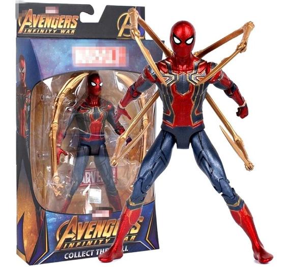 Boneco Action Figure Homem Aranha De Ferro Guerra Infinita