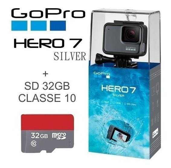 Gopro Hero 7 Silver 4k 10mp Original Lacrado Nota Fiscal