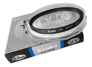 Filtro Uv 67mm Kenko P/ Nikon, Canon, Sony, Pentax, Etc.