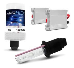 Xenon Completo H3 12000k Azul Violeta Escuro Com Reatores