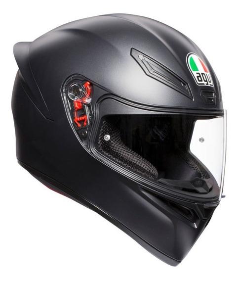 Casco Agv K1 Negro Mate Nuevo 2019 Integral Sti Motos Full