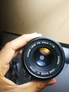 Lente Canon Fd 50mm 1.8 Manual