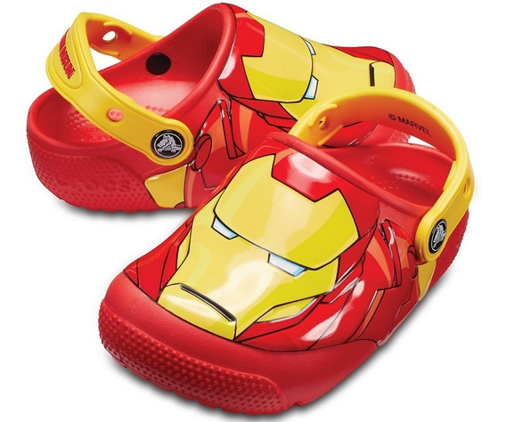 Crocs Infantil De Luces Crocs Fun Lab Iron Man