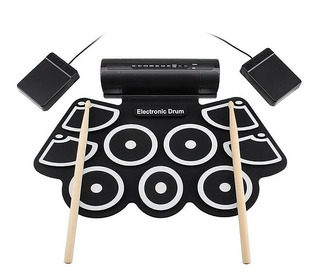 Bateria Electronica Pads Flexible Usb Midi Pedal Musical Apr