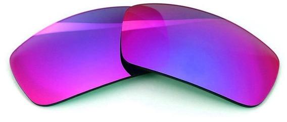Lentes P/ Oakley Badman Violet Super Top Proteção Solar