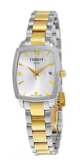 Relógio Tissot Feminino Everytime Prata/dourado/retângulo