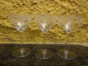 Antigo Conjunto De Taças Em Cristal - R 3339