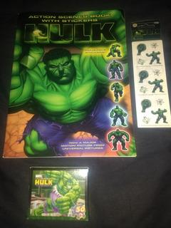 Album Importado Hulk, Stickers Exclusivos, Puzzle 50 Piezas
