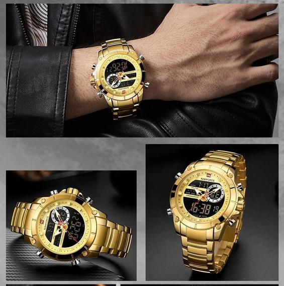 Relógio Masculino Naviforce Nf9138 Aço Inox Original