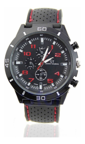 Relógio Masculino Luxuoso Gt Quartz Estilo Sport Aço Inox