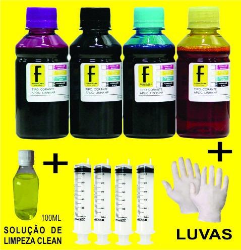 Tinta Hp Kit Com 4 Cores 250ml Original Com Uv Formulabs