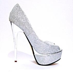 Sapato Feminino Salto Alto Pedras Brilhante Luxo - 012