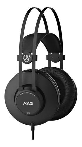 Imagem 1 de 3 de Fone de ouvido over-ear AKG K52 matte black