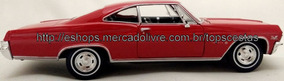 Miniatura Impala Ss 396 1965 Welly Metal Carro Chevrolet