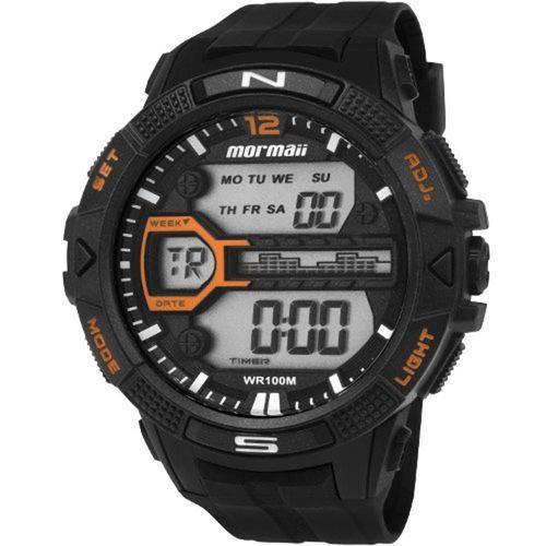 Relógio Masculino Mormaii Preto Digital Mo5000/8l