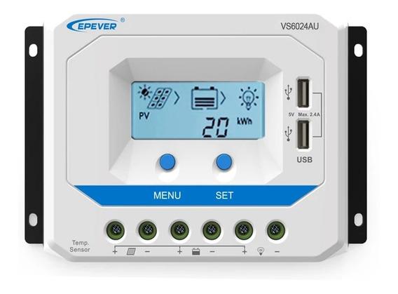 Controlador Carga Solar 60a 12v/24v Epever Vs6024au