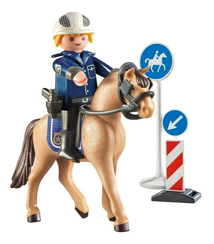 Playmobil Country Soft Bag Policia A Cavalo 9260