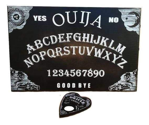 Tabuleiro Ouija Black / Ponteiro Com Lente