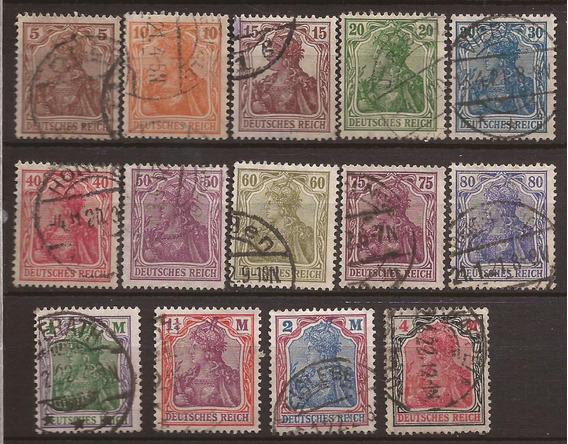 Alemania 1920 Serie Germania 14 Sellos Usados 18 U$d - 210