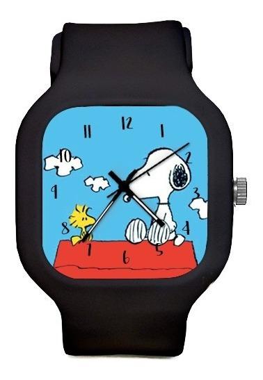 Relogio Snoopy De Pulso Silicone Personalize A Prova Dagua