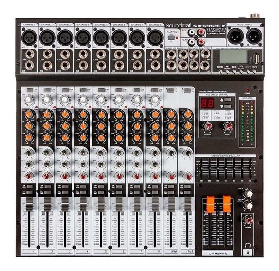 Mesa De Som Soundcraft Sx1202fx (12 Canais/usb/efeitos)
