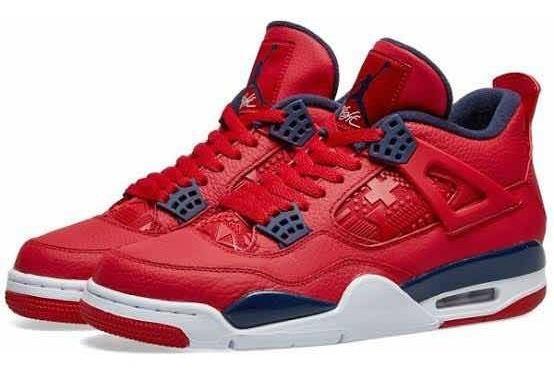 Tenis Nike Jordan 4 Fiba Red