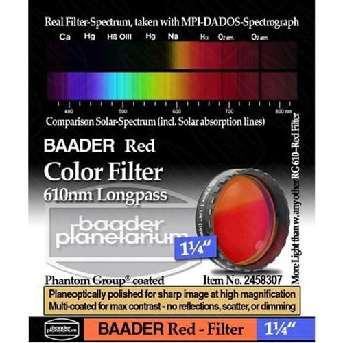 Filtro Ocular Baader Premium: Vermelho, 610nm Longpass 1,25