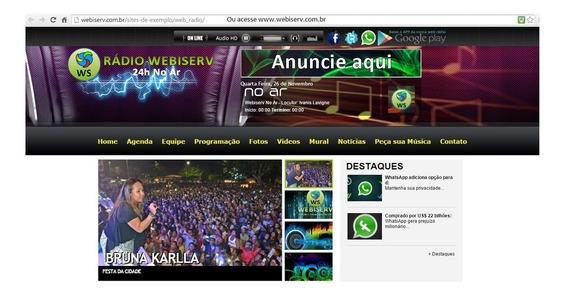Site De Web Rádio Com Painel De Administração