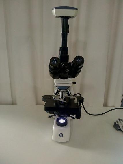 Microscopio Trinocular Bio Blue Lab C/ Camera Cmex