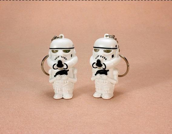 Kit 02 Chaveiros Stormtrooper Ou Darth Star Wars Luz E Som