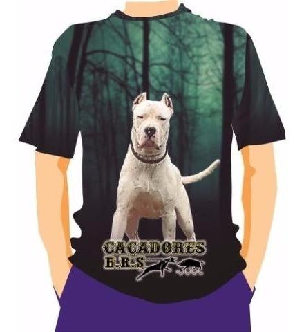 Camiseta Manga Curta Caçadores Brs- Dogo Argentino 1