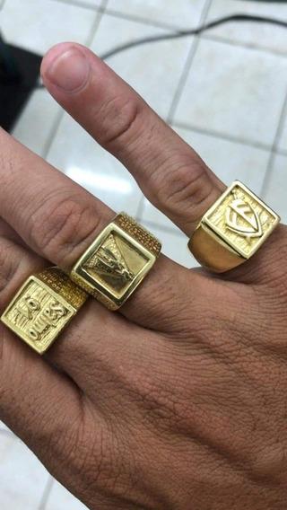 Anéis De Prata Banhados A Ouro 24k Melhor Do Mercado