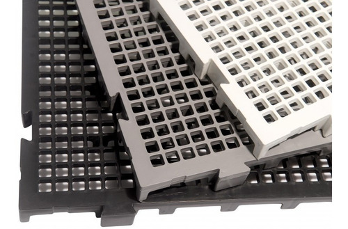 8 Pisos Plastico Preto Estrado Plat 50x25cm Piso P/ Box