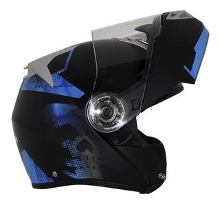 Casco Abatible Bkr Supreme Rebel Negro/azul Rider One