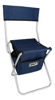 Cadeira De Pesca Joga Dobravel Com Bolsa 13 Litros Azul