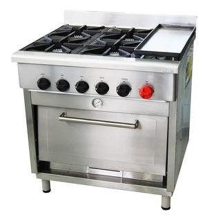 Cocina 4 Platos/1 Horno/1 Churrasquera, Bozzo, Gastronomia,