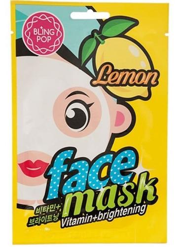 Máscara Facial Iluminadora, De Limón, 1u, Bling Pop
