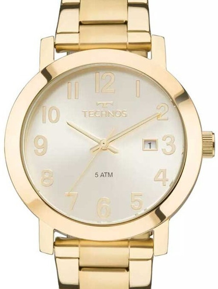 Relógio Technos Feminino Dress Dourado - 2115mnd/4x