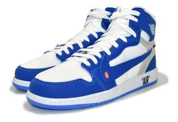 Tênis Air Jordan Off White Chicago Botinha Basquete + Frete