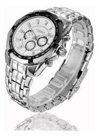 Kit 2 Relógios Curren Quartzo Para Homens Casuais
