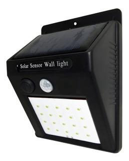 Aplique Reflector Solar 20 Led 20w Con Sensor Movimiento Seguridad Potencia Iluminación