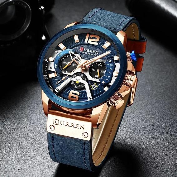 Relógio Masculino Executivo Luxo Curren 8329 Original Frete Grátis Envio Imediato