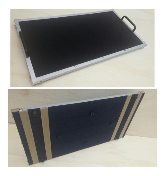Pedalboard Slim P/ Pedais Pedaleira 50x30 | Alça Em Alumínio