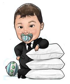 Caricatura Digital Incrivel De Criança Poderoso Chefinho Etc