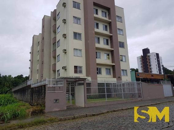Apartamento Com 1 Dormitório Para Alugar, 40 M² Por R$ 700/mês - Santo Antônio - Joinville/sc - Ap0068